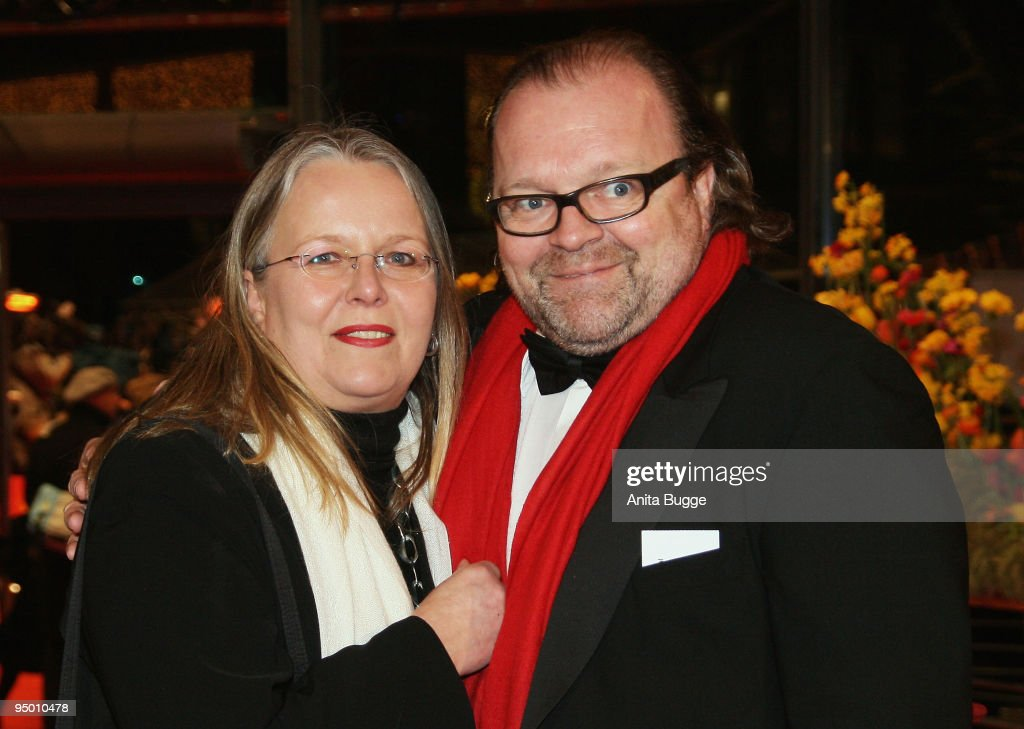 Producer Stefan Arndt and his wife Manuela Stehr attend the 'Be Kind Rewind' premiere as part of the 58th Berlinale Film Festival at the Berlinale Palast on February 16, 2008 in Berlin, Germany.
