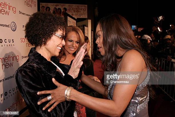 Producer Stephanie Allain and Golden Brooks during Los Angeles Premiere of Focus Features' Something New at Cinerama Dome / Cabanna Club in Hollywood...
