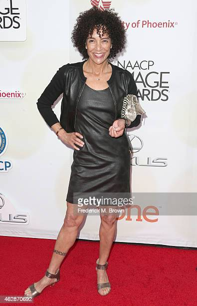 Producer Stephanie Allain attends the 46th NAACP Image Awards presented by TV One at Pasadena Civic Auditorium on February 6, 2015 in Pasadena,...