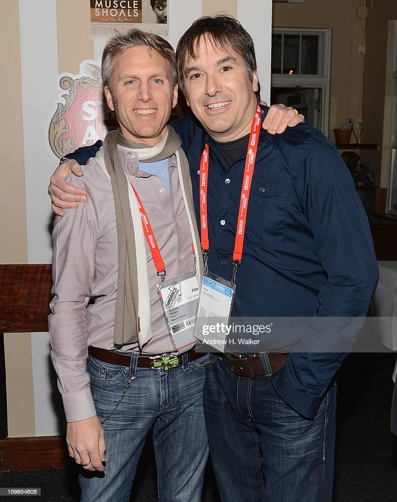 Producer Stephen Badger and director Greg 'Freddy' Camalier attend the Stella Artois 'Muscle Shoals' cocktail party at Village at the Lift on January 21, 2013 in Park City, Utah.