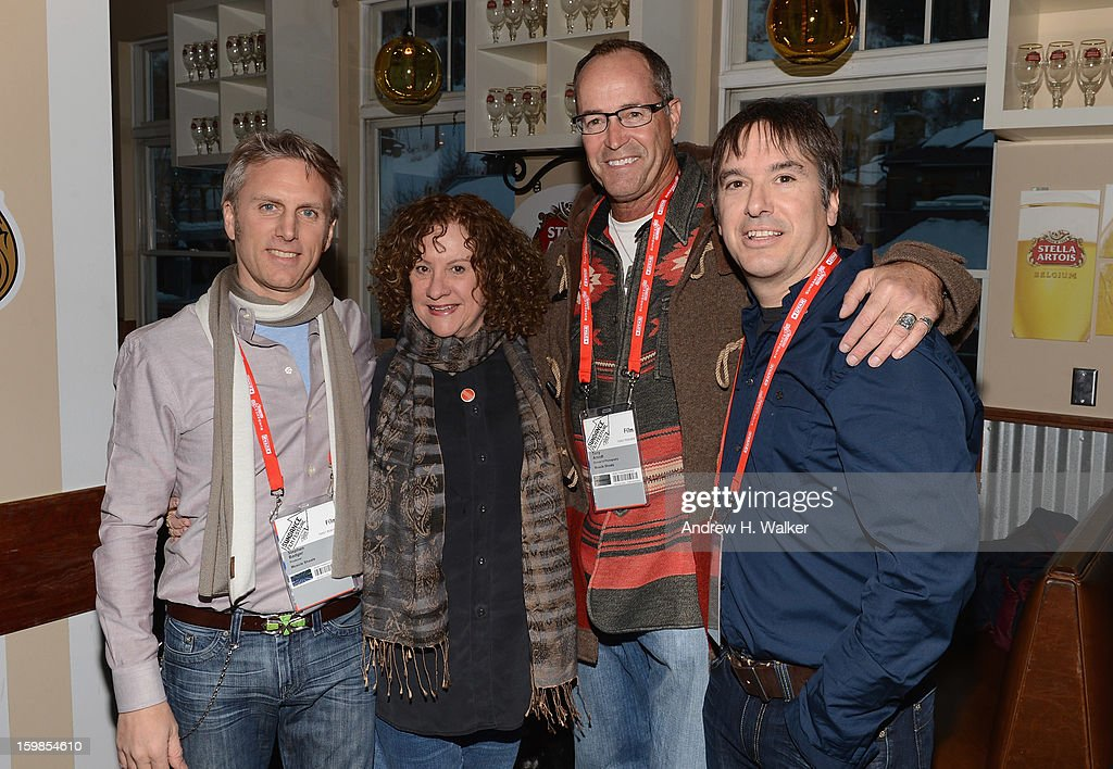 Producer Stephen Badger, associate producer Linda Livingston, cinematographer Anthony Arendt and director Greg 'Freddy' Camalier attend the Stella Artois 'Muscle Shoals' cocktail party at Village at the Lift on January 21, 2013 in Park City, Utah.