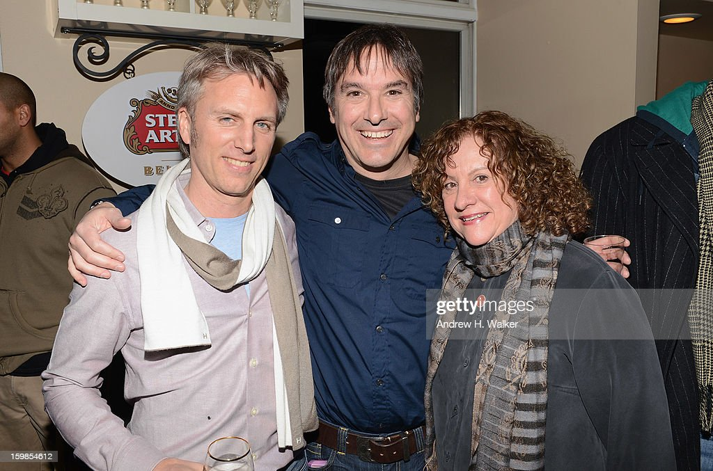 Producer Stephen Badger, director Greg 'Freddy' Camalier and associate producer Linda Livingston attend the Stella Artois 'Muscle Shoals' cocktail party at Village at the Lift on January 21, 2013 in Park City, Utah.