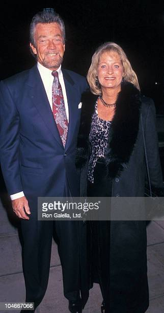 Producer Stephen Cannell and wife Marcia Finch attending 125th Anniversary Party for Los Angeles Public Library on November 16 1997 at the Los...