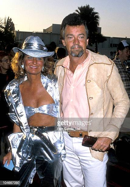 Producer Stephen Cannell and wife Marcia Finch attending 33rd Annual Share Boomtown Party on May 17 1986 at the Santa Monica Civic Auditorium in...