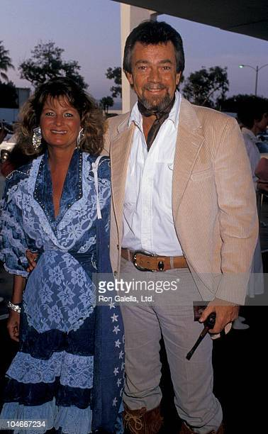 Producer Stephen Cannell and wife Marcia Finch attending 34rd Annual SHARE Boomtown Party on May 16 1987 at the Santa Monica Civic Auditorium in...