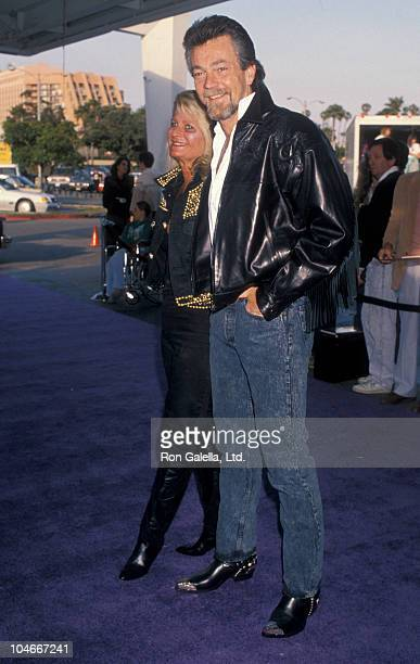 Producer Stephen Cannell and wife Marcia Finch attending 37th Annual SHARE Boomtown Party on May 19 1990 at the Santa Monica Civic Auditorium in...