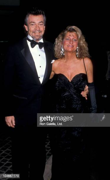 Producer Stephen Cannell and wife Marcia Finch attending 47th Annual Golden Globe Awards on January 20 1990 at the Beverly Hilton Hotel in Beverly...