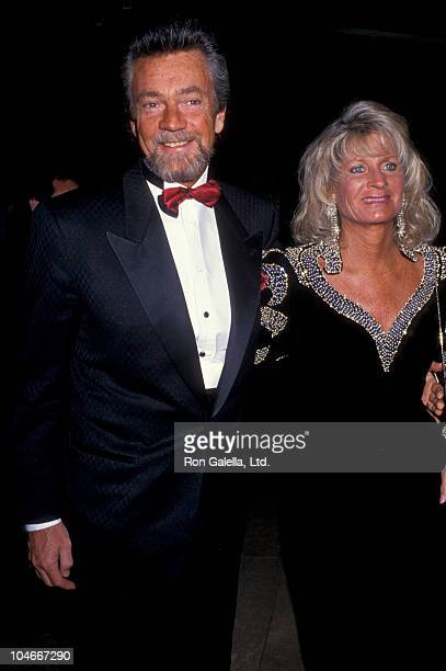 Producer Stephen Cannell and wife Marcia Finch attending Fire and Ice Ball Benefit on December 2 1992 at the Beverly Hilton Hotel in Beverly Hills...