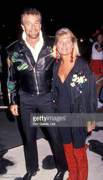 Producer Stephen Cannell and wife Marcia Finch attending Grand Opening of Boogies Diner on October 10 1991 at the Westside Pavilion in Los Angeles...