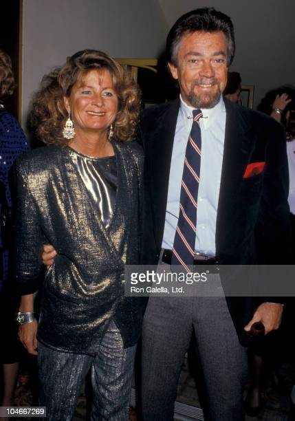 Producer Stephen Cannell and wife Marcia Finch attending Hans Christian Anderson Awards on March 15 1987 at the Century Plaza Hotel in Century City...