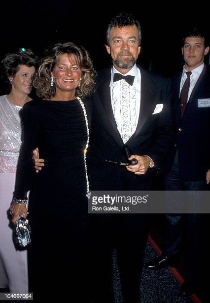 Producer Stephen Cannell and wife Marcia Finch attending Second Annual Commitment To Life Benefiting AIDS Project on September 19 1986 at the Los...