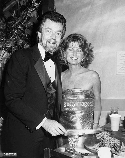 Producer Stephen Cannell and wife Marcia Finch attending The March Of Dimes Gourmet Gala Benefit on March 4 1986 at the Sheraton Premiere Hotel in...