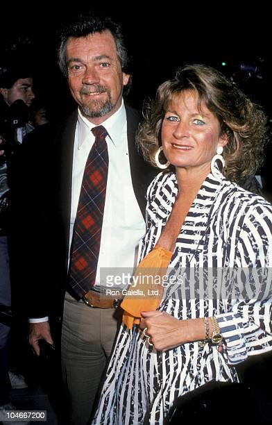 Producer Stephen Cannell and wife Marcia Finch attending the premiere of Sweet Liberty on April 22 1986 at the Academy Theater in Beverly Hills...