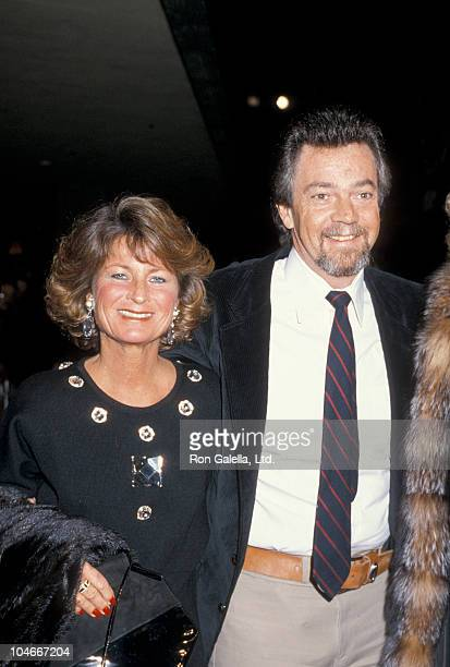 Producer Stephen Cannell and wife Marcia Finch attending the premiere of Out Of Africa on December 10 1985 at the Plitt Theater in Century City...