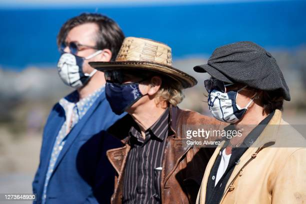 Producer Stephen Deuters director Julien Temple and actor Johnny Depp attend 'Crock of Gold A Few Rounds With Shane Macgowan' photocall during the...
