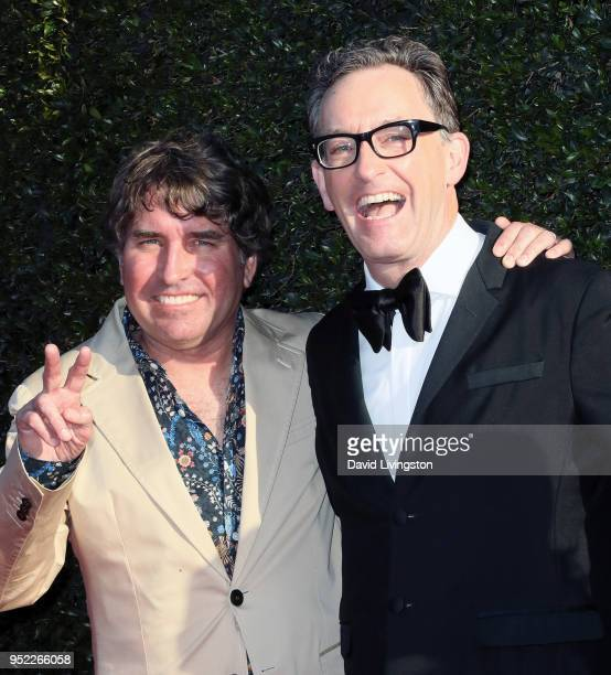 Producer Stephen Hillenburg and actor Tom Kenny attend the 45th Annual Daytime Creative Arts Emmy Awards at Pasadena Civic Auditorium on April 27...