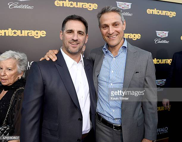 Producer Stephen Levinson and Ari Emanuel attend the premiere of Warner Bros Pictures' Entourage at Regency Village Theatre on June 1 2015 in...