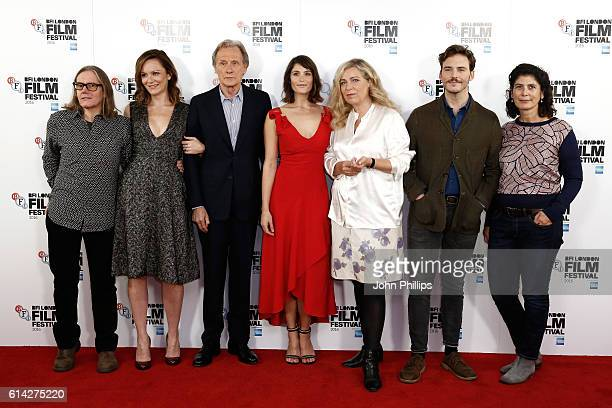 Producer Stephen Woolley actors Rachael Stirling Bill Nighy Gemma Arterton director Lone Scherfig actor Sam Claflin and producer Amanda Posey attend...