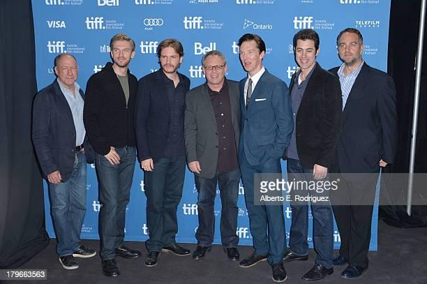 Producer Steve Golin actor Dan Stevens actor Daniel Bruhl director Bill Condon actor Benedict Cumberbatch screenwriter Josh Singer and producer...