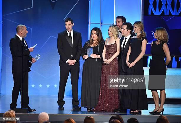 Producer Steve Golin screenwriter Josh Singer producer Nicole Rocklin actors Rachel McAdams and Brian d'Arcy James editor Tom McArdle and producer...