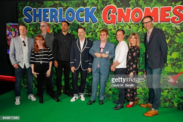Producer Steve Hamilton Shaw director John Stevenson Carolyn Soper Jamie Demetriou David Furnish Sir Elton John James McAvoy Ashley Jensen and...