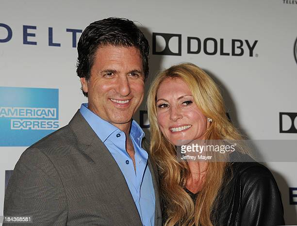 Producer Steve Levitan and wife Krista Levitan arrive at Hugh Jackman One Night Only Benefiting The Motion Picture Television Fund at the Dolby...