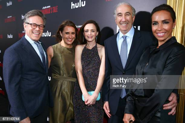 Producer Steve Stark MGM Executive VP of Television Production Lindsay Sloane actor Alexis Bledel CEO of MGM Gary Barber and Nadine Barber attend the...