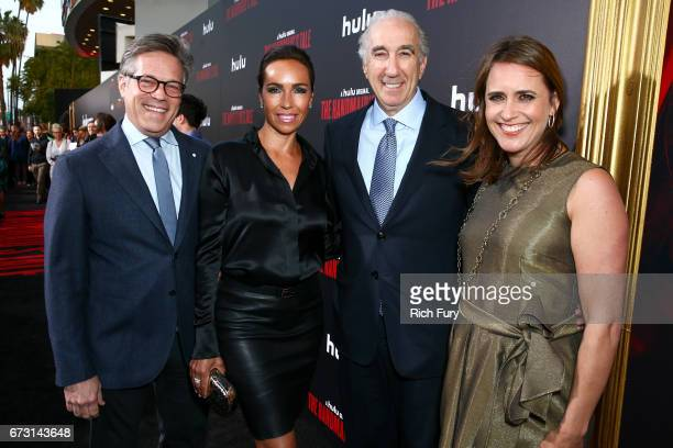 Producer Steve Stark Nadine Barber CEO of MGM Gary Barber and MGM Executive VP of Television Production Lindsay Sloane attend the premiere of Hulu's...