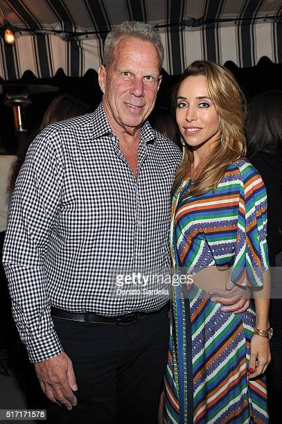 Producer Steve Tisch and Katia Francesconi attend Doen's celebration of the launch of their collection with friends and family on March 23 2016 in...