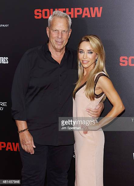 Producer Steve Tisch and Katia Francesconi attend the Southpaw New York premiere at AMC Loews Lincoln Square on July 20 2015 in New York City