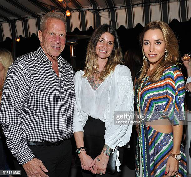 Producer Steve Tisch CEO/Cofounder of Doen Margaret Kleveland and Katia Francesconi attend Doen's celebration of the launch of their collection with...