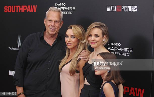 Producer Steve TischKatia Francesconi and actors Rachel McAdams and Oona Laurence attend the Southpaw New York premiere at AMC Loews Lincoln Square...