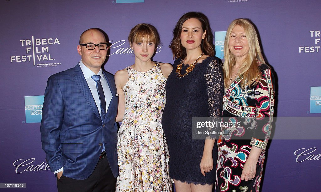Producer Steven Berger, actress Zoe Kazan, director Jenee LaMarque and producer Robin Schorr attend the screening of 'The Pretty One' during the 2013 Tribeca Film Festival at SVA Theater on April 20, 2013 in New York City.