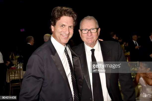 Producer Steven Levitan and actor Ed O'Neill attend The 23rd Annual Critics' Choice Awards at Barker Hangar on January 11 2018 in Santa Monica...