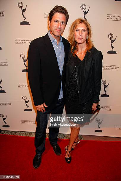 Producer Steven Levitan and his wife Krista Levitan attend The Academy of Television Arts Sciences' Writers Peer Group Reception Celebrating the 63rd...