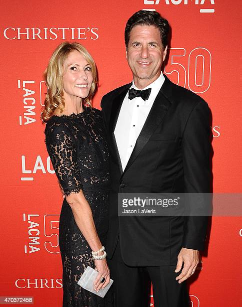 Producer Steven Levitan and wife Krista Levitan attend LACMA's 50th anniversary gala at LACMA on April 18 2015 in Los Angeles California