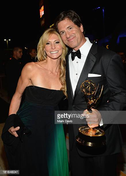 Producer Steven Levitan and wife Krista Levitan attend the Governors Ball during the 65th Annual Primetime Emmy Awards at Nokia Theatre LA Live on...