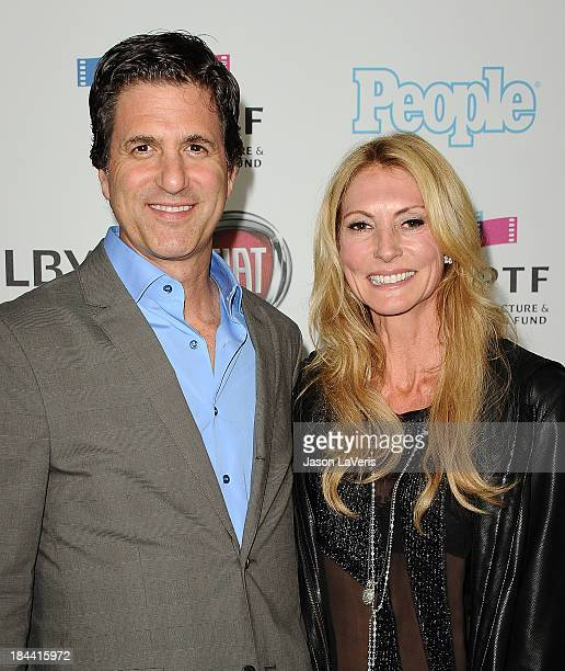 Producer Steven Levitan and wife Krista Levitan attends Hugh Jackman's One Night Only benefitting the MPTF at Dolby Theatre on October 12 2013 in...