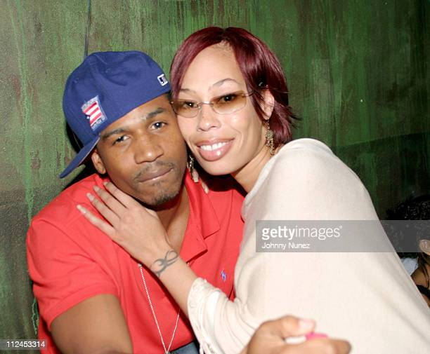 Producer Stevie J and Alexandrea Martin during Jameel Hasaan Spencer of Blue Flame Marketing's Birthday Party at Coral Room in New York City New York...