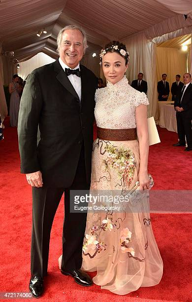 Producer Stewart F Lane and Actress Luo Yan arrive at Met Costume Institute Gala China Through the Looking Glass on May 4 2015 in New York City