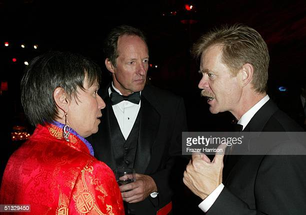 Producer Sue Jett, Paul Elliott, cinematographer and actor William H. Macy pose at HBO?S post Emmy party following the 56th annual Primetime Emmy...