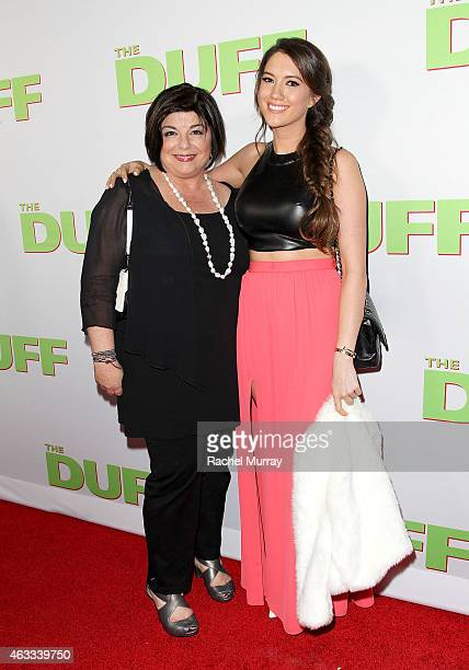 Producer Susan Cartsonis and Blair Fowler attend a special Los Angeles fan screening of 'THE DUFF' on February 12 2015 in Los Angeles California