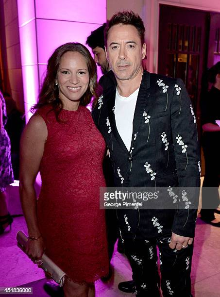 Producer Susan Downey and actor Robert Downey Jr. Attend HFPA & InStyle's 2014 TIFF Celebration at the Windsor Arms Hotel on September 5, 2014 in...
