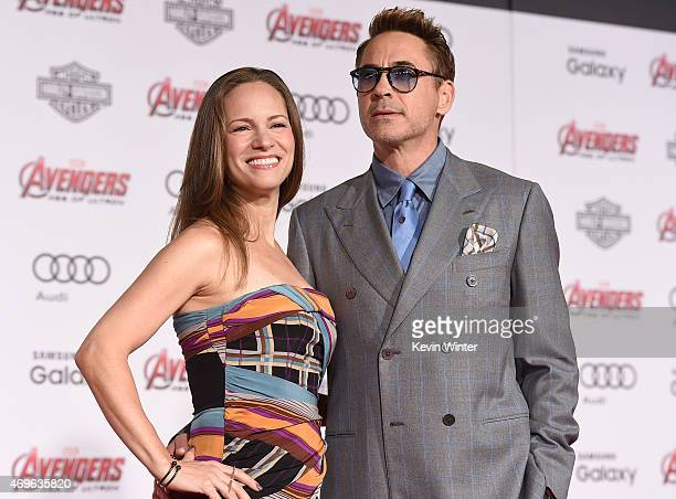 """Producer Susan Downey and Actor Robert Downey Jr. Attend the premiere of Marvel's """"Avengers: Age Of Ultron"""" at Dolby Theatre on April 13, 2015 in..."""