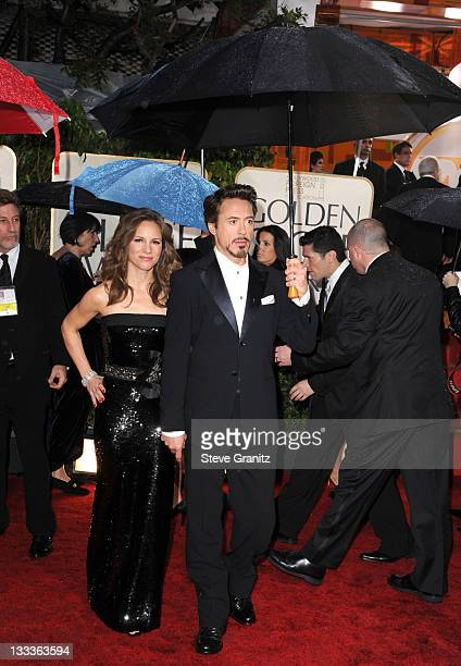 Producer Susan Downey and Actor Robert Downey Jr attends the 67th Annual Golden Globes Awards at The Beverly Hilton Hotel on January 17 2010 in...