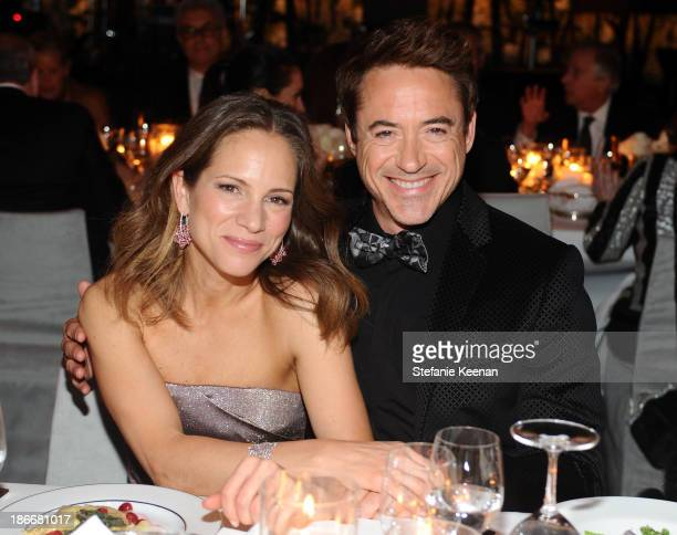 Producer Susan Downey and actor Robert Downey Jr wearing Gucci attend the LACMA 2013 Art Film Gala honoring Martin Scorsese and David Hockney...