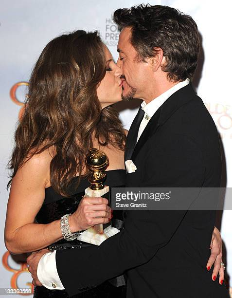 Producer Susan Downey and husband actor Actor Robert Downey Jr attends the 67th Annual Golden Globes Awards at The Beverly Hilton Hotel on January 17...