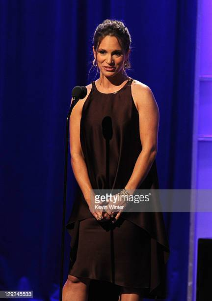 Producer Susan Downey speaks onstage during The 25th American Cinematheque Award Honoring Robert Downey Jr held at The Beverly Hilton hotel on...