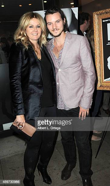 Producer Susan Traylor and actor Nathan Keyes arrive for The Real Experimental Film Festival held at Laemmle Music Hall on November 21 2014 in...