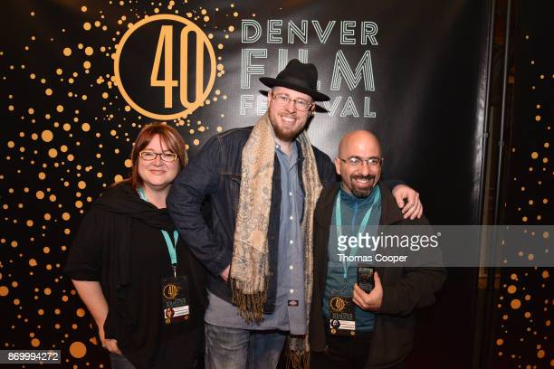 Producer Suzan Ortmier Subject Daniel Houck and Director Stefan Avalos of the film Stras Style on the red carpet at the 40th annual Denver Film...